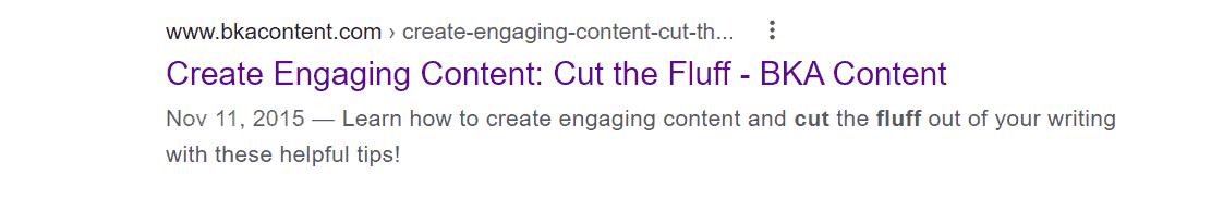 cut fluff in meta descriptions