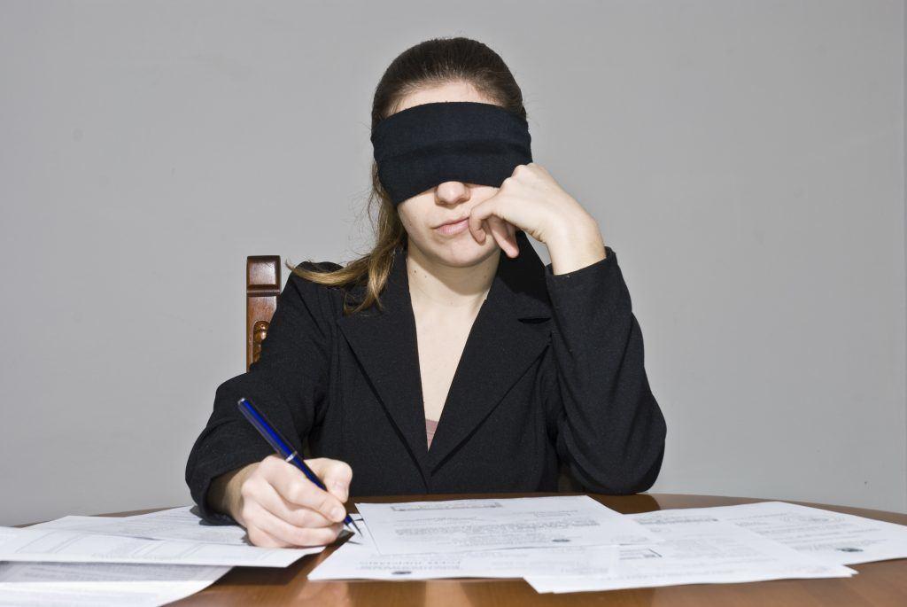 Writing Blind
