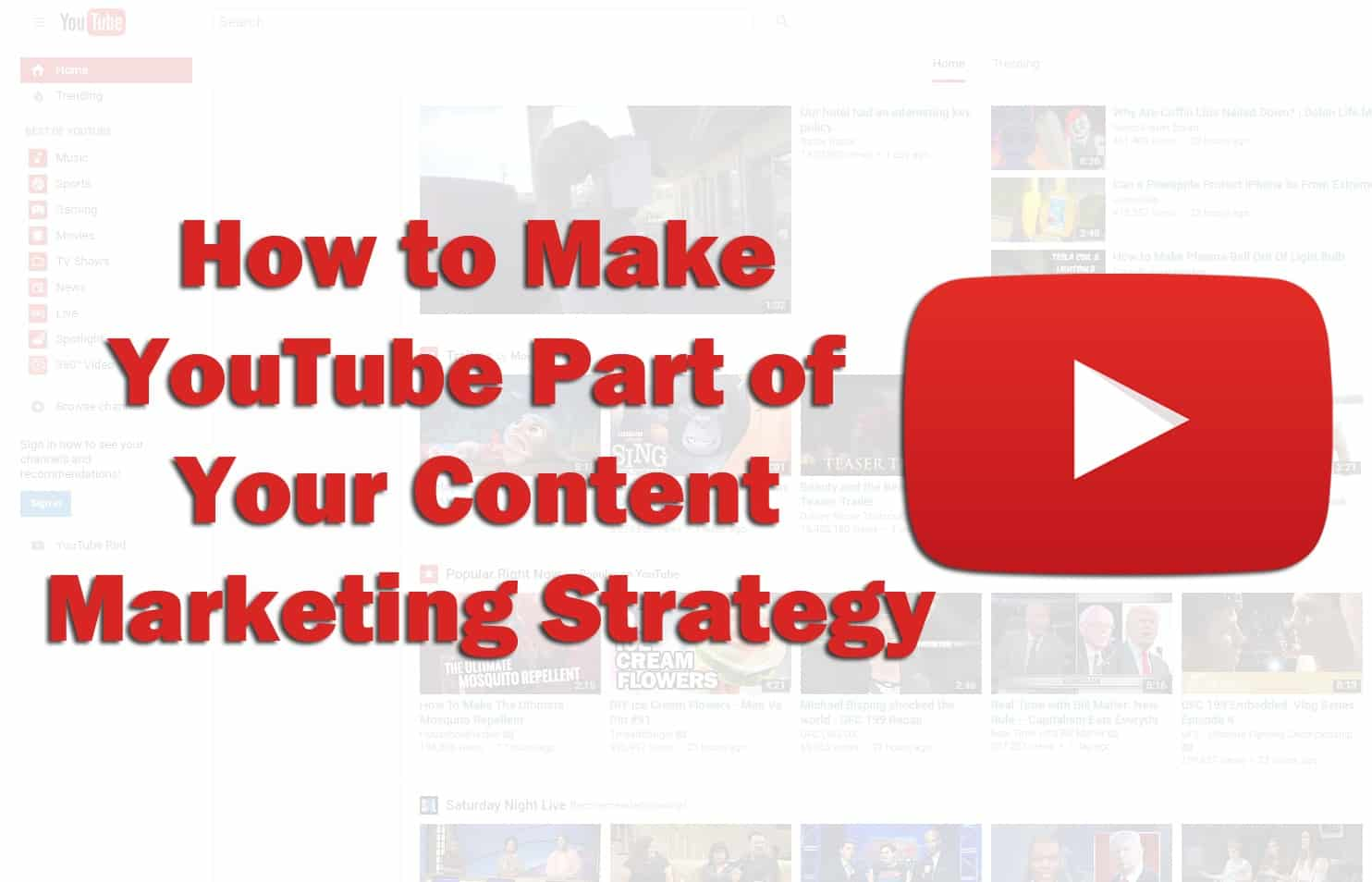 how to do YouTube content marketing