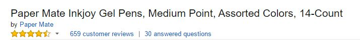 Amazon Product Description Title