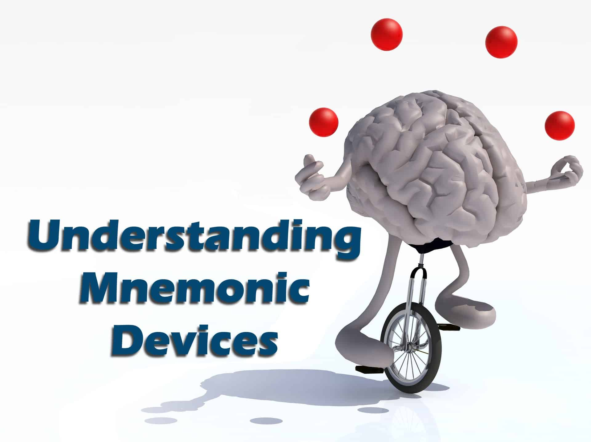 mnemonic devices A mnemonic device is used as a memory tool by students of all ages, and this list includes mnemonics for many common lists or orders that students need to memorize.