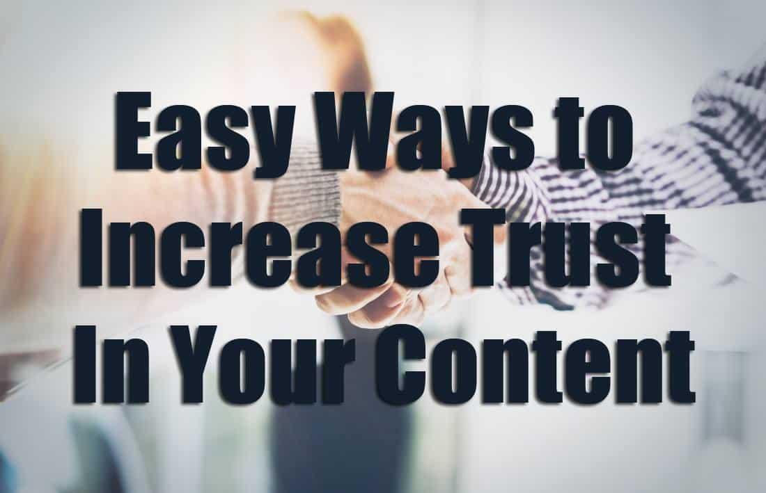 Trust in Content