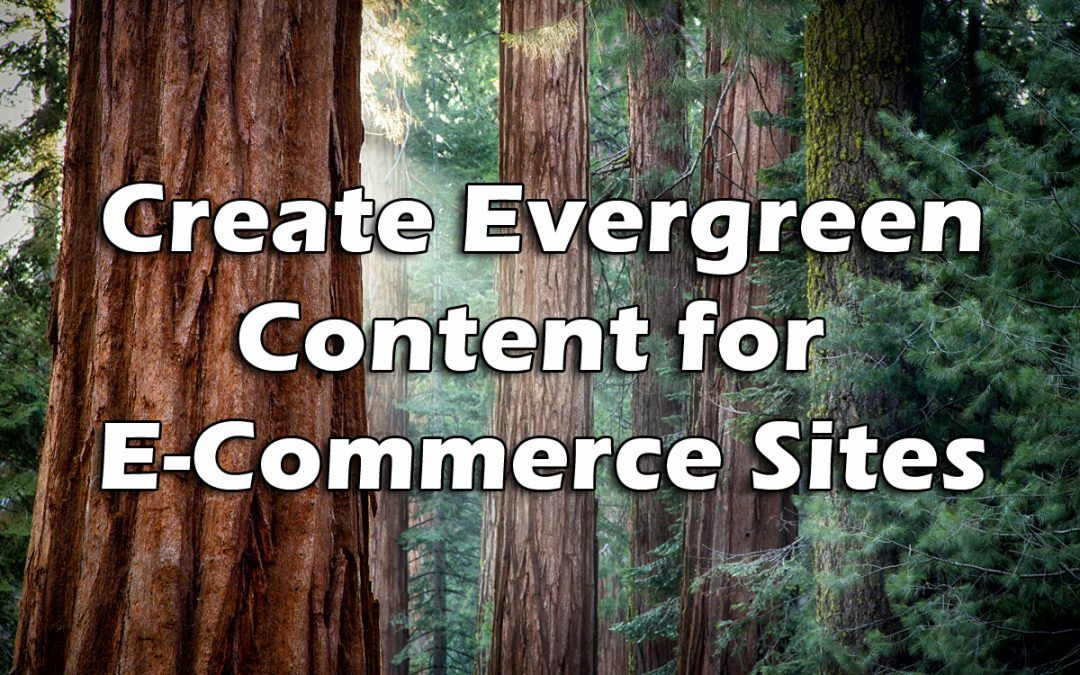 6 Ideas for Great Evergreen Content on E-commerce Sites