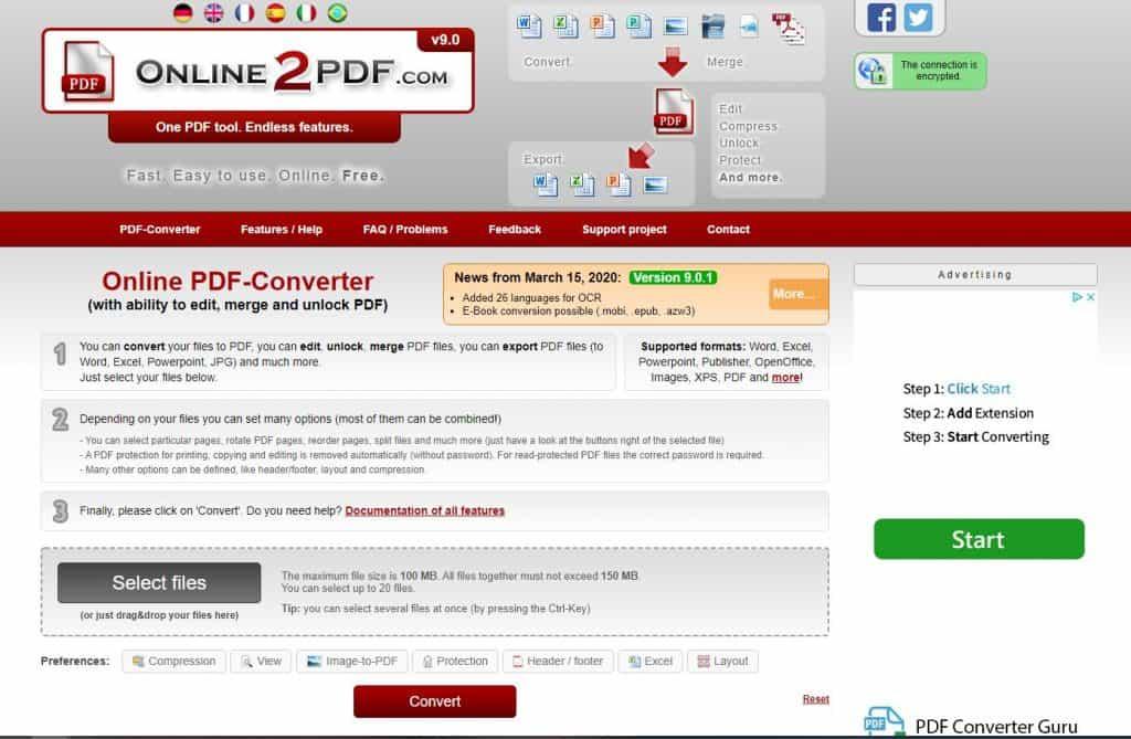 word to pdf converter online2pdf