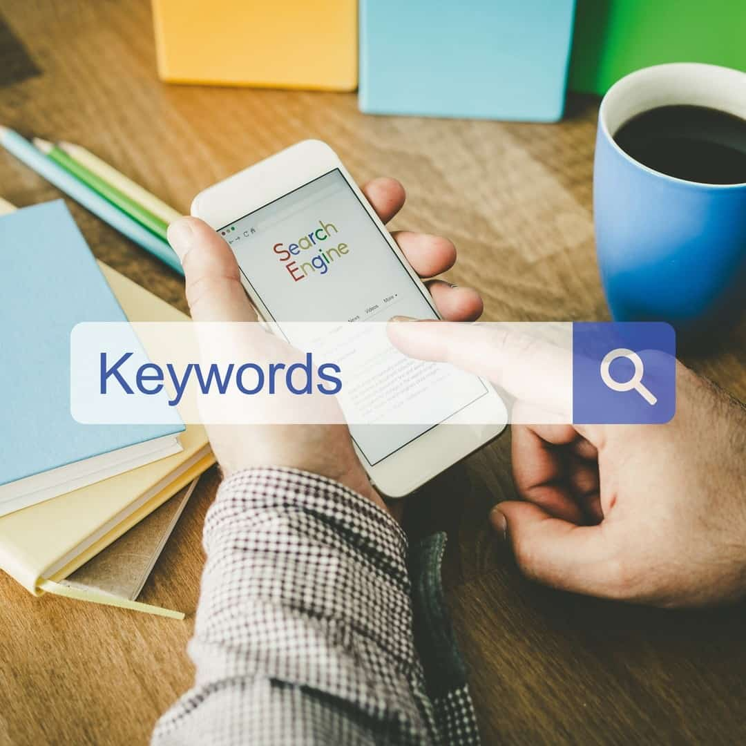 Doing keyword research on mobile phone