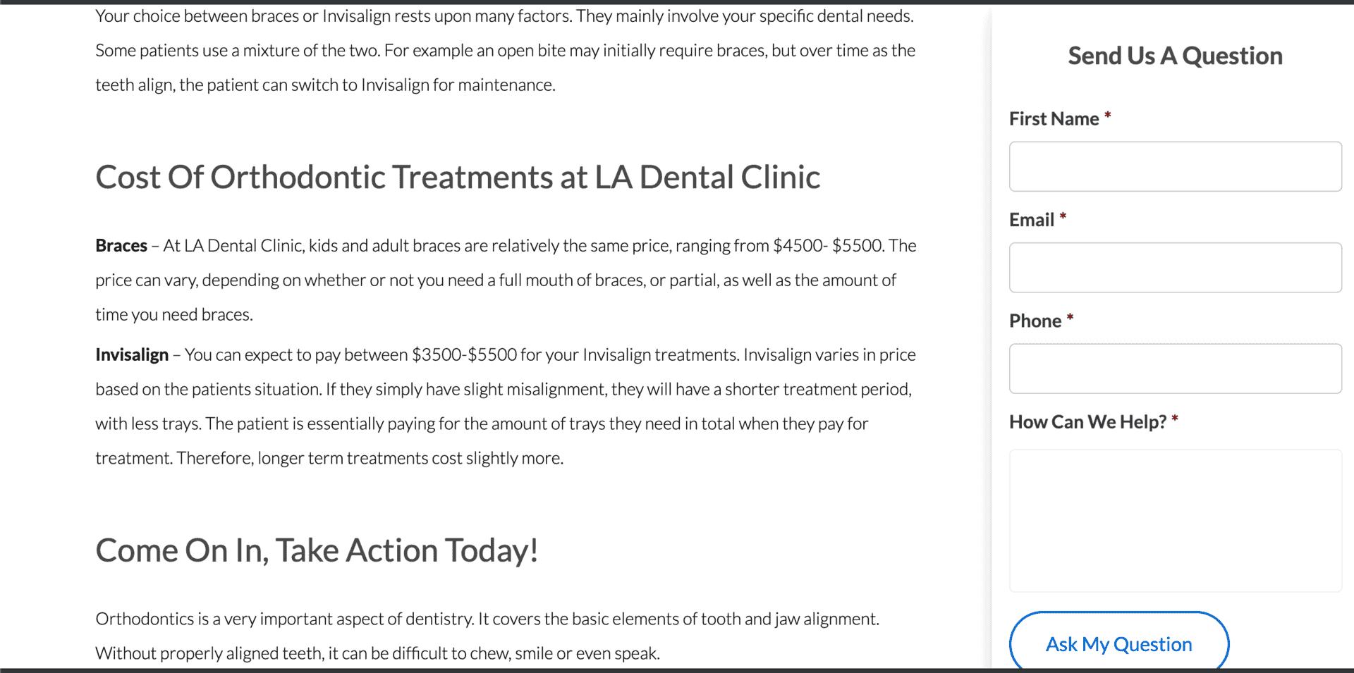 good dental websites