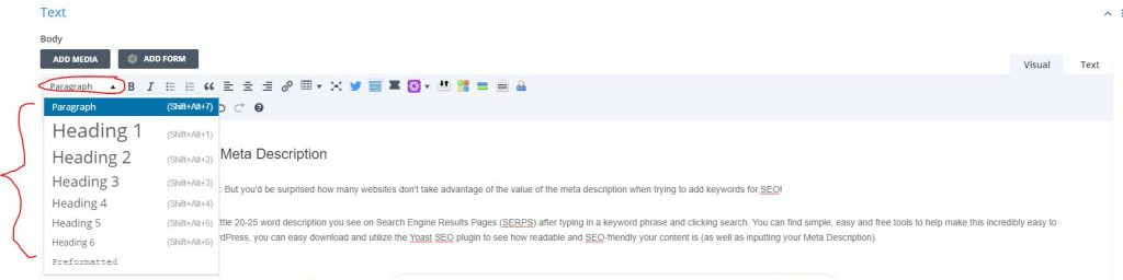 how to write keywords for SEO