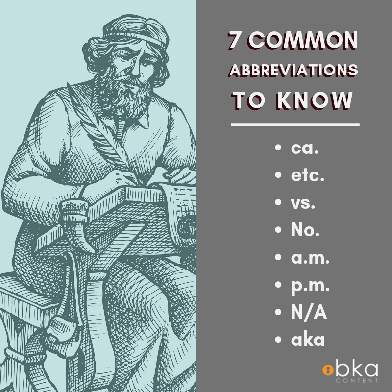 7 common abbreviations to know