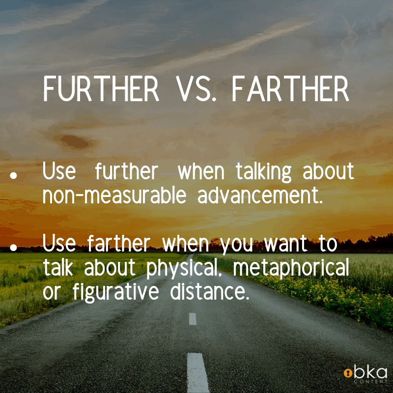 when to use further vs farther