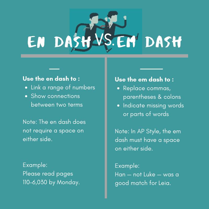 Commonly Confused Words: En Dash Vs. Em Dash - BKA Content