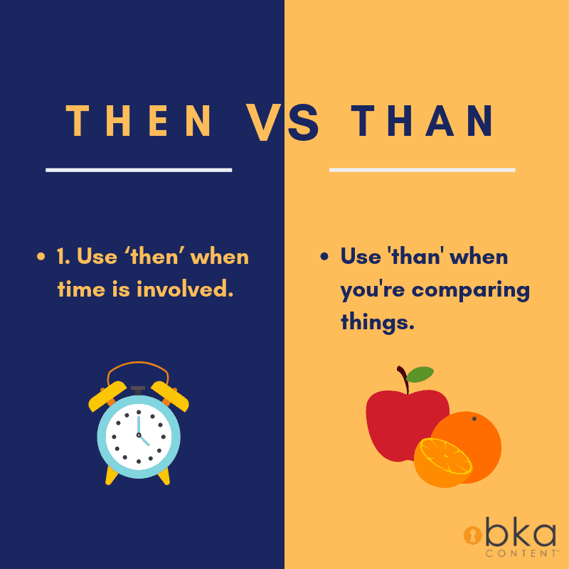 When to use then vs than