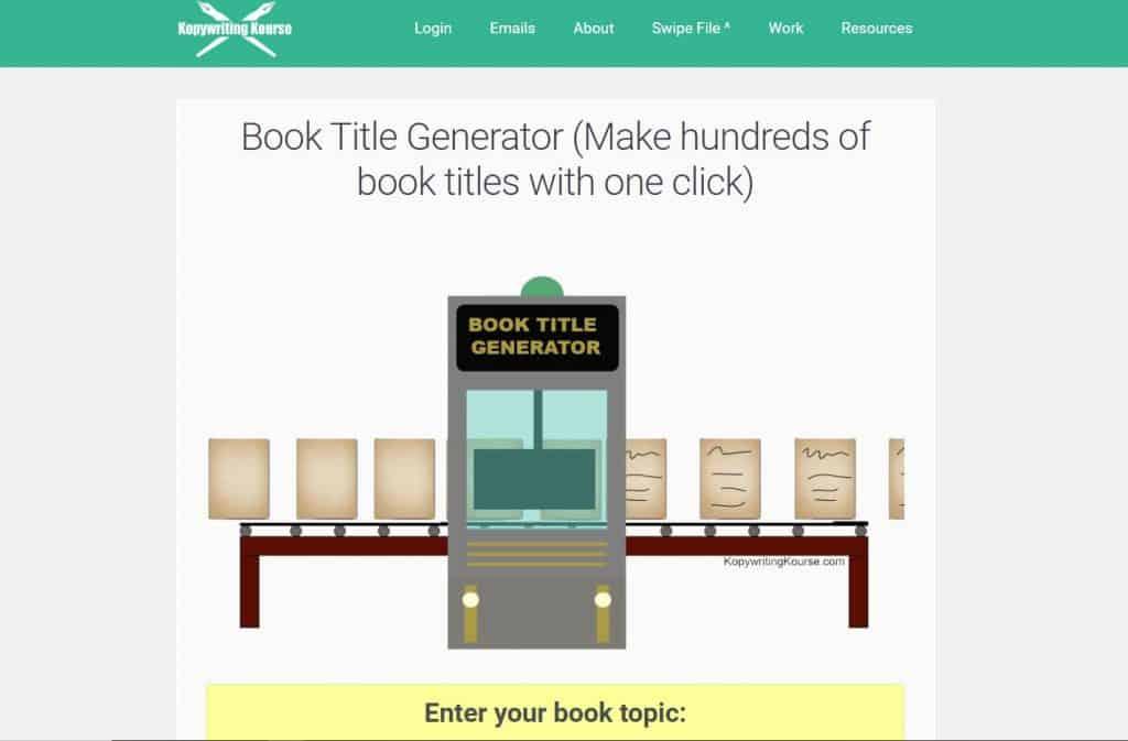 book title generator using keywords