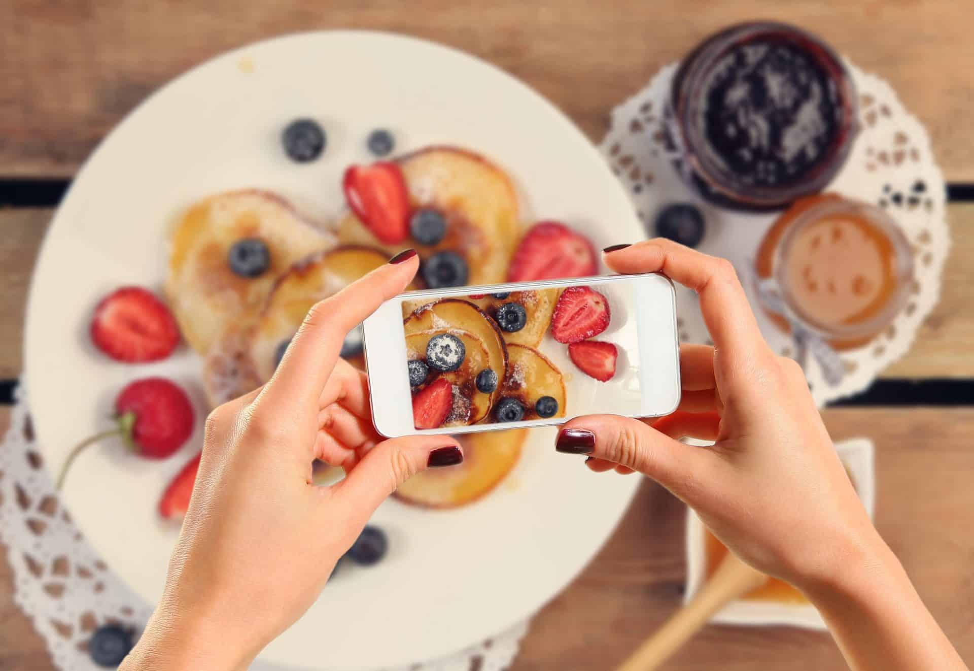 Optimized Instagram Photo of Pancakes