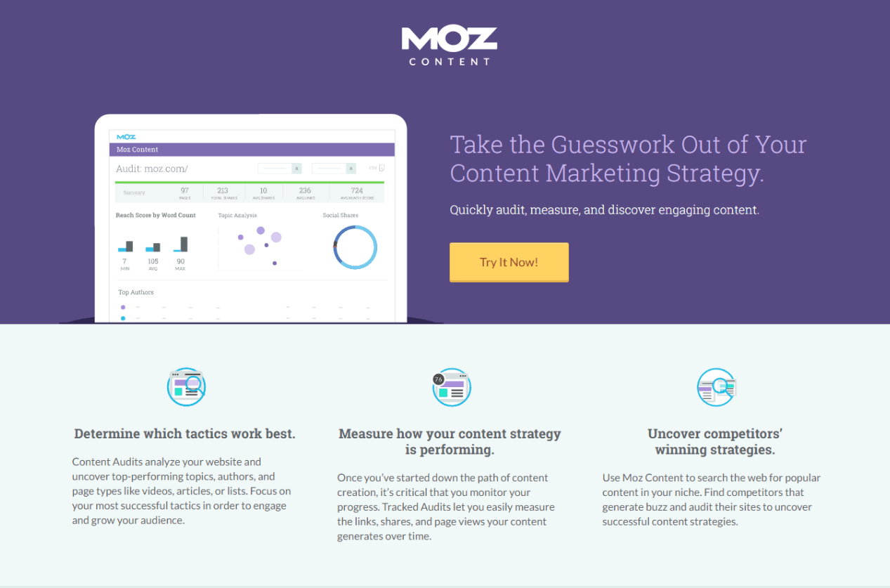 moz landing page example