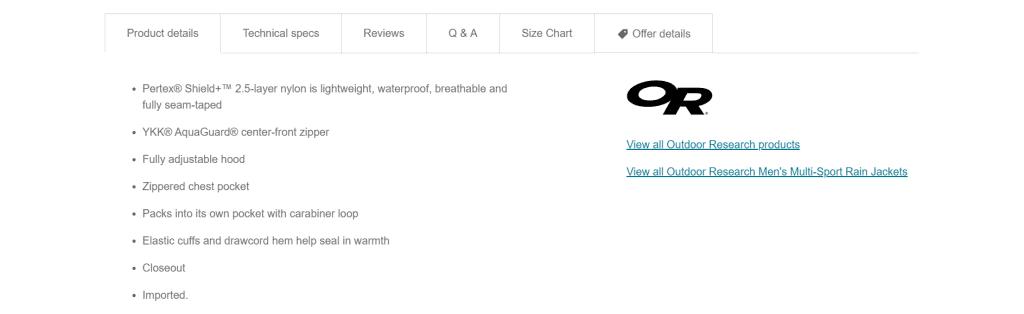 product description writing
