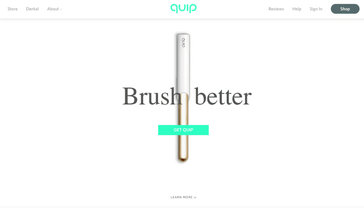 quip landing page example