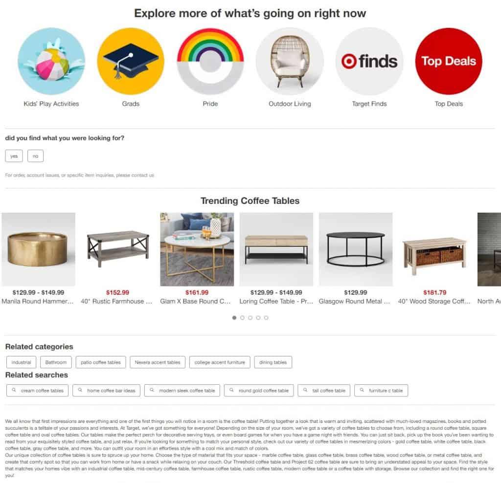 target category description