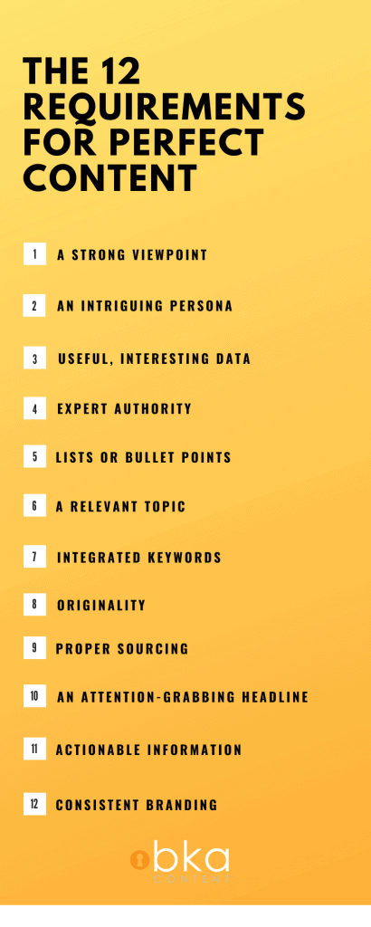 what are the requirements for SEO content writing?