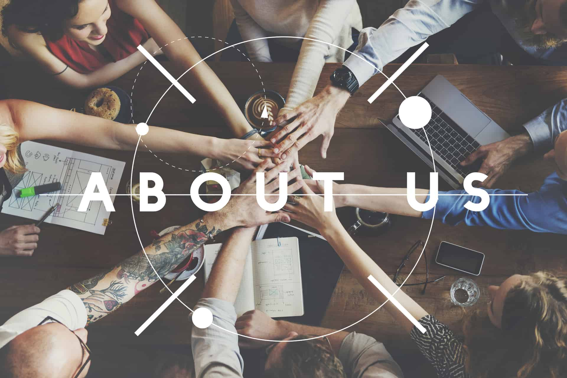 About us page and website content creation