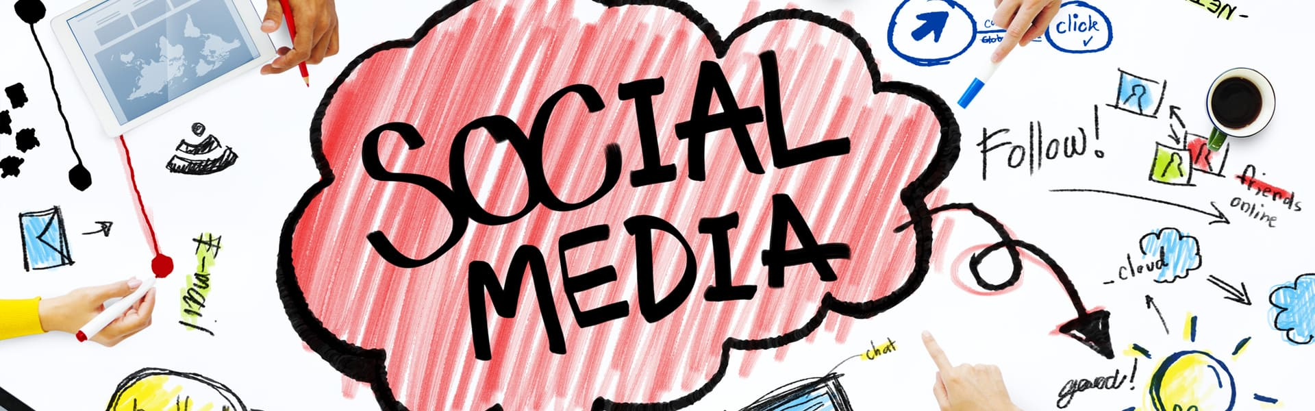Using social media from blog content writing services