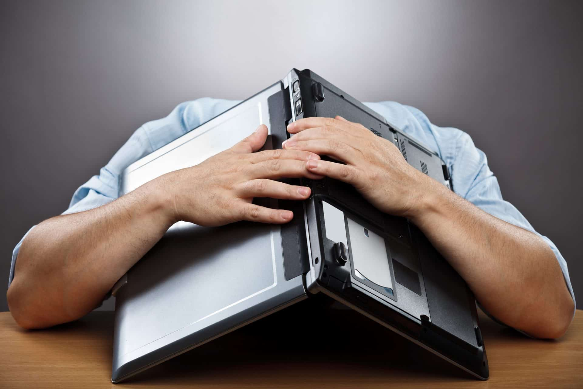 Freelance content writer experiencing writer's block