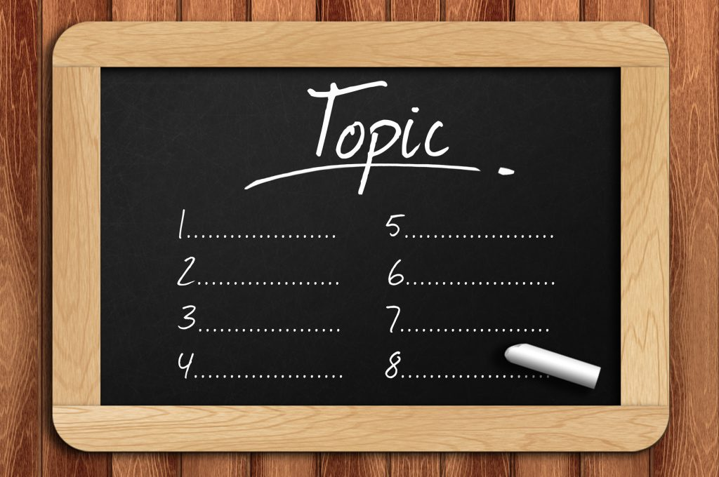 Choose a topic for your ebook ghostwriter