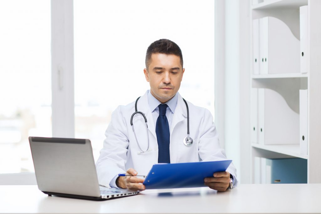 medical writer doing research