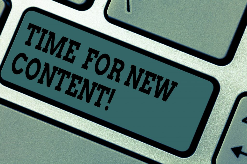 use a content writing agency to publish new content