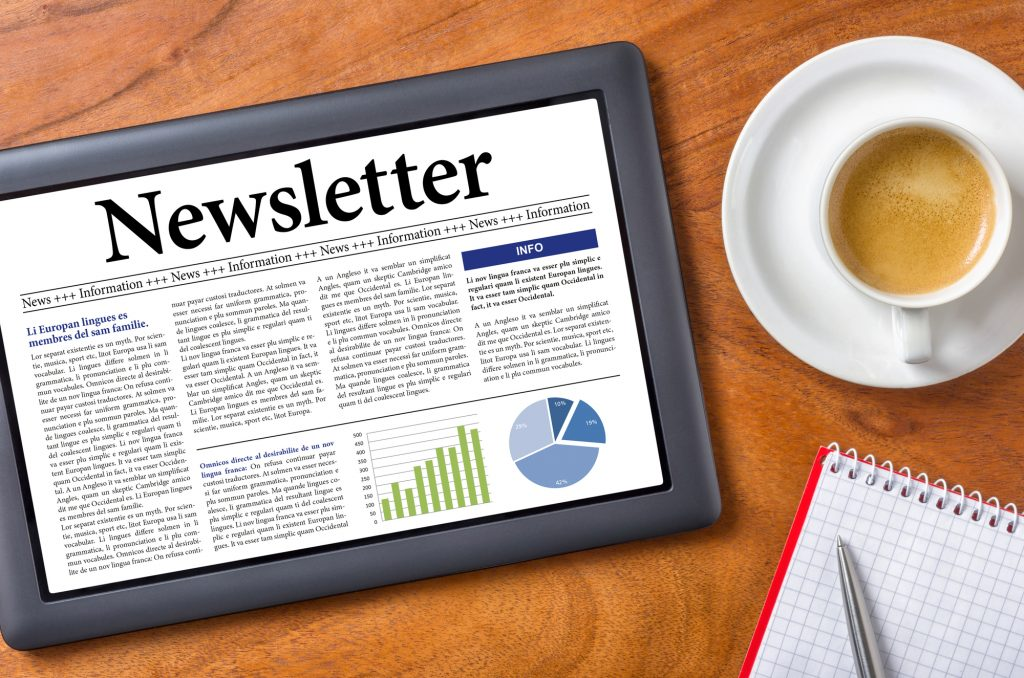Content Newsletter written by content writing agency