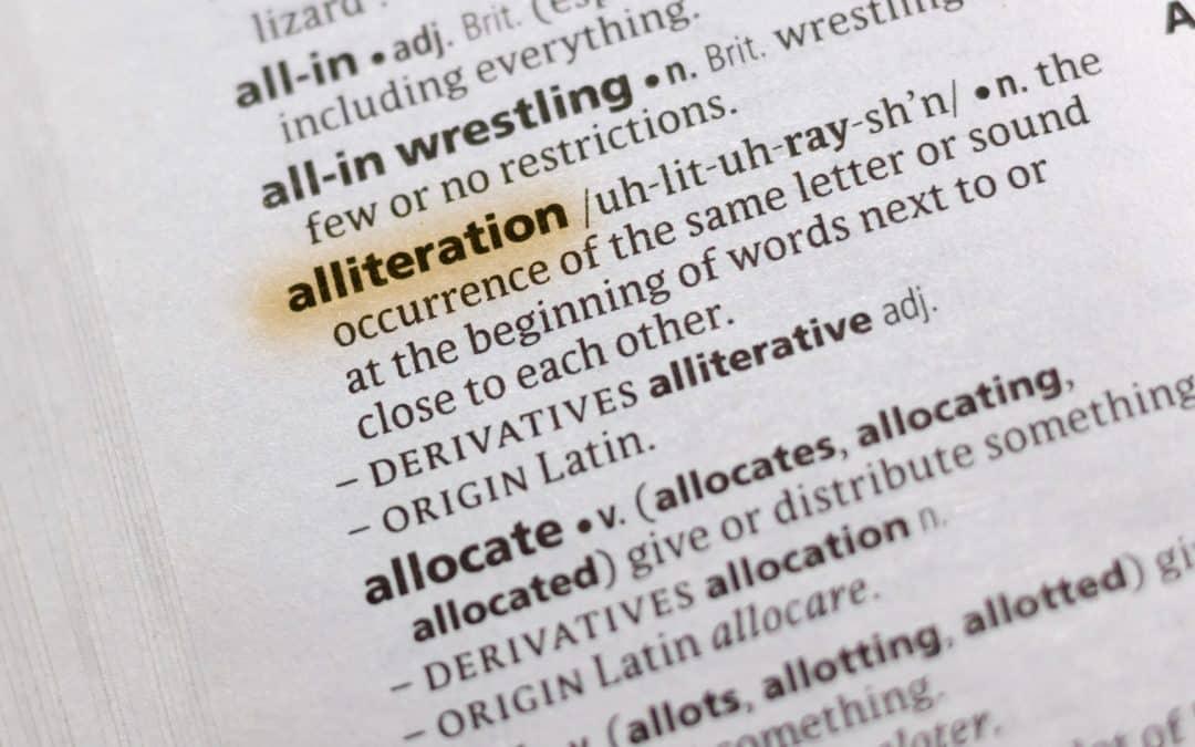 The Astute Art of Alliteration