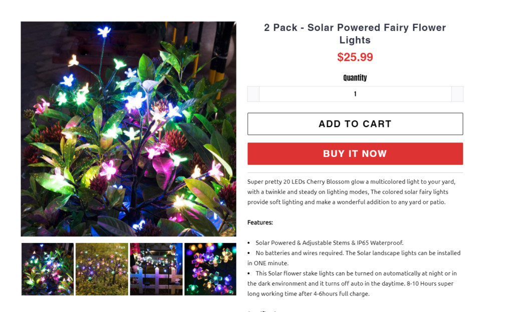 how to write an outdoor lighting product description