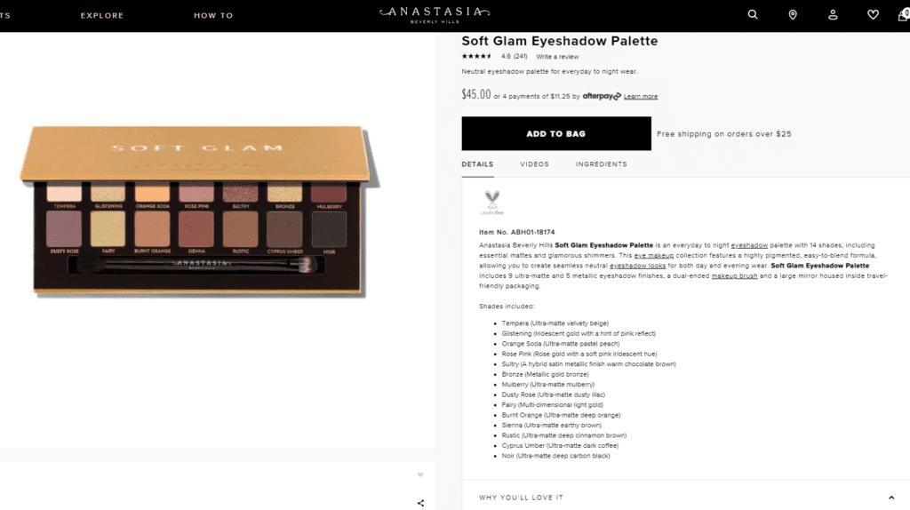 how to write a makeup product description
